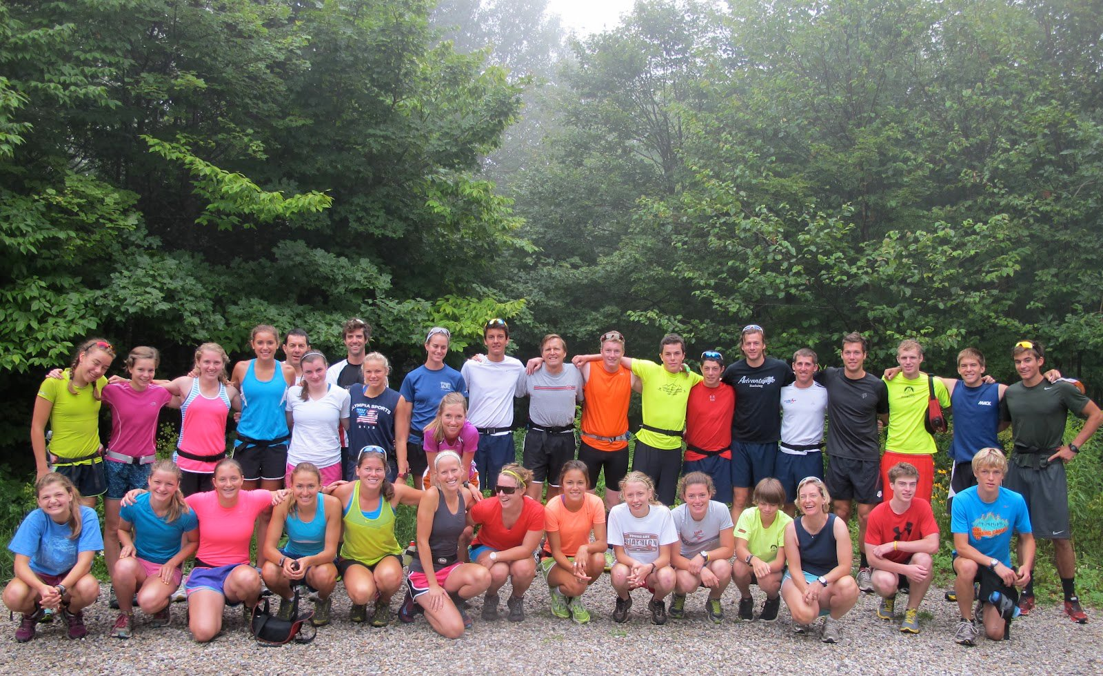 The whole crew before our epic run (Lilly Caldwell photo)