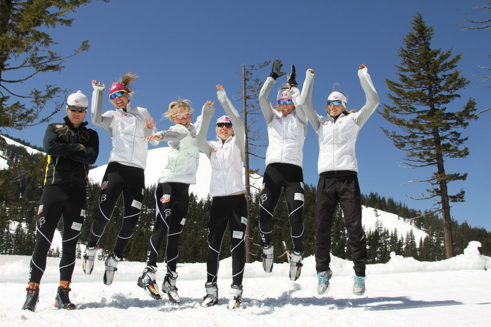Throwback photo from 2 years ago...we're a goofy crew! And we don't have hops. (USSA nordic photo)