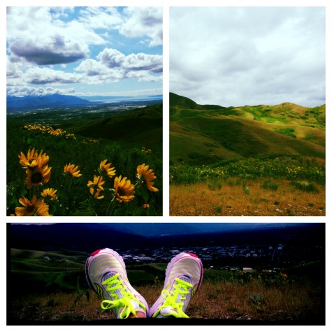 My unplanned yet totally beautiful run above Salt Lake City
