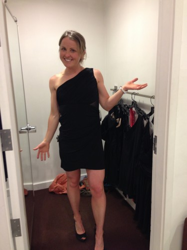 Holly trying on some cute dresses
