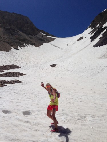 At the bottom of the Timp Glacier