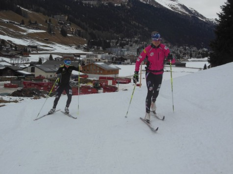 Me and Liz on our Christmas day ski! (photo from Noah)