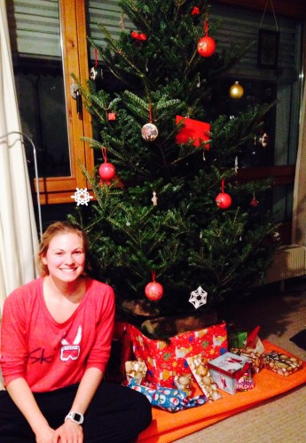 Our Christmas tree! With presents from my family and our Norwegian friends!