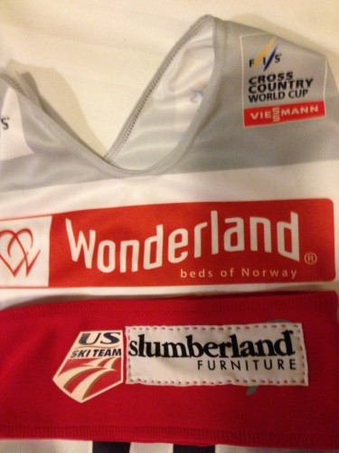It sure was nice of them to find the Norwegian version of my headgear sponsor for the race bibs!