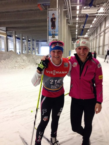 Training in the tunnel with Zuzana before the prologue! (Zuzana photo)