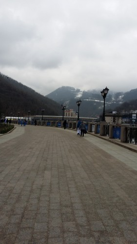 One of the nice walkways en route to Krasnaya Polyana