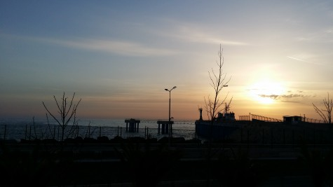 A beautiful sunset over the black sea, right next to the coastal village!