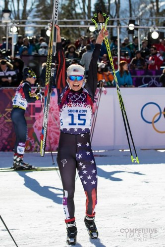 So happy to have finished my first Olympic race! (photo by Paul Philips)