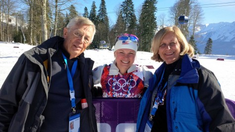 Getting to see Ken and Barb after the 15km skiathalon!