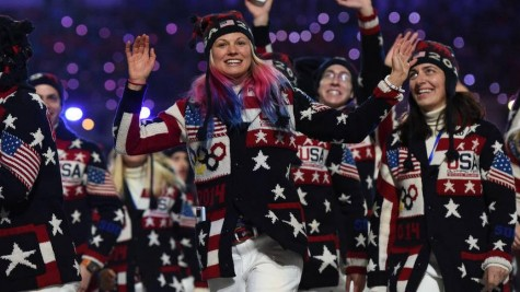 Walking in the Opening Ceremonies! (photo by NBC)