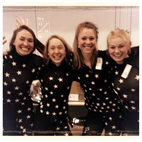 Stars and stripes on our new race suits! The rookie Olympic crew models :)