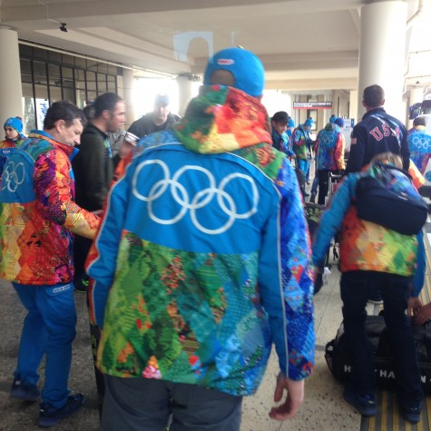"A ""rainbow of colors"" on the Sochi volunteer jackets"