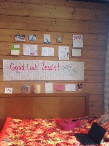 I'm running out of wall space! The best problem to have when it comes to good-luck cards!