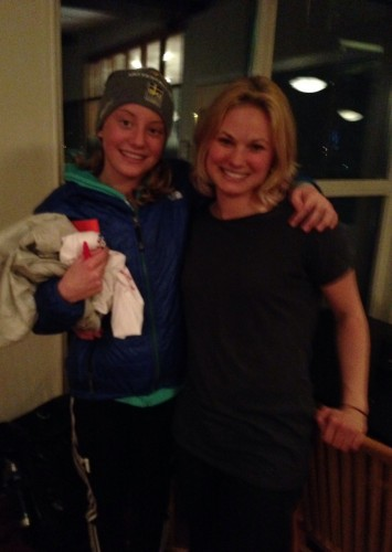 Me and Siri! It's been so great to see Kris and Siri here in Falun (photo from Kris)