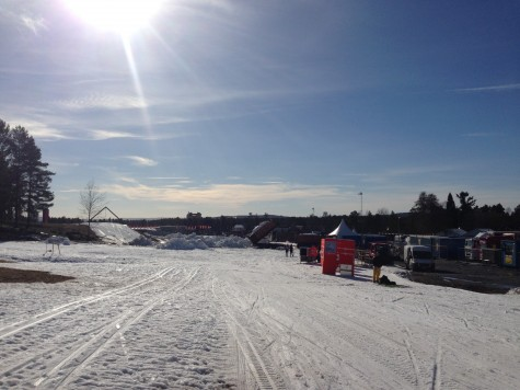 The sun is out in Falun!
