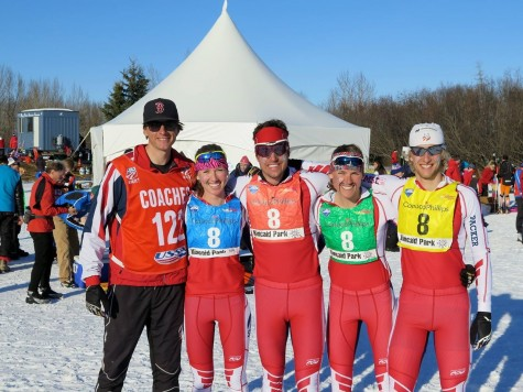 Our second SMS relay team of Erika, Ben, Annie and Erik (photo by Sverre Caldwell)