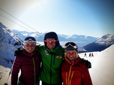 Holly, Brian and I enjoying our free ski passes courtesy of Alyeska! (photo from Holly)