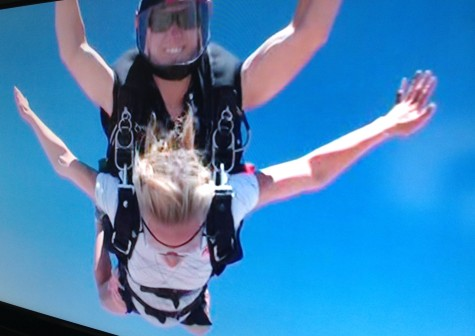 In free fall...the best part!