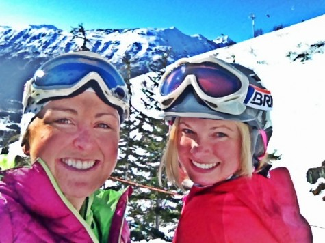 Holly and I at Alyeska enjoying some turns in the sunshine! (photo from Holly)