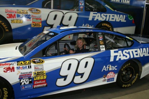 Testing out the Fastenal Team Race Car...