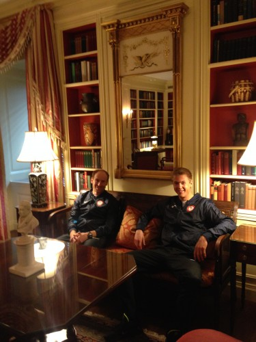 Bryan and Erik hanging out in the White House library. Weird as it is, I loved the smell of this room.