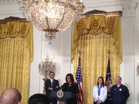 Barack and Michelle Obama giving beautiful speeches to the athletes
