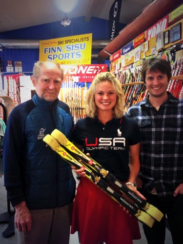 Getting my Marwe Roller skis from Finn Sisu (Ahvo and Kevin in the photo)