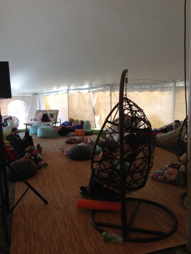 The Lululemon tent had a crazy nice lounging area