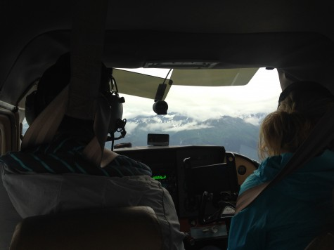 Austin, our awesome pilot, and Grace up in the front!