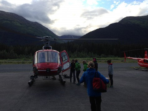 Loading up the helicopter for the trip up to Eagle. Thanks Alaska Air for flying us!