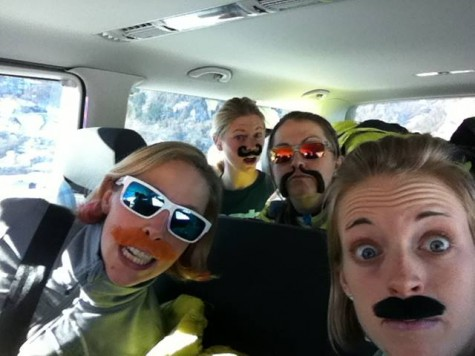 Best van ride ever...Tour de Ski 2013 (photo from Holly)