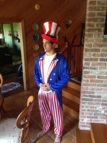 Ben's fabulous 4th of July getup