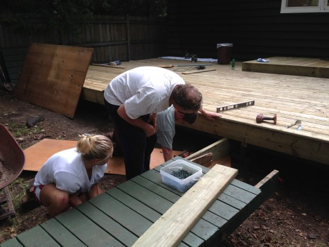 We also did a lot of camp chores, like helping to rebuild the deck, painting and clearing the roof!