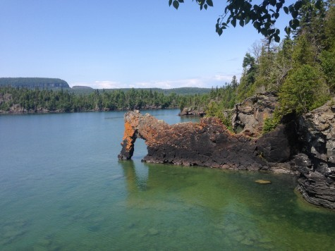 "The famous ""Sea Lion"" rock formation out on the Sibley Penninsula"