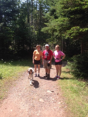 My Mom, Dad, sister and dog out on a hike!