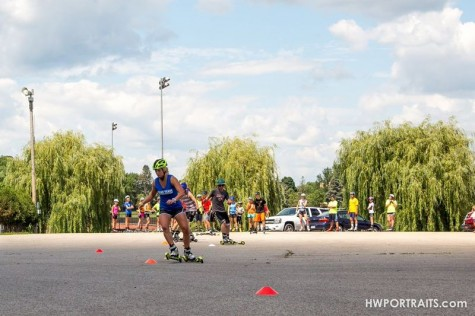 We also did a lot of obstacle courses and slalom around cones! (photo by Heidi Wisniewski)