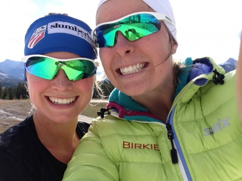 "Anne ""Goobie"" was standing at the end of the course, taking selfies with every skier to pass by. What a little ray of sunshine!"