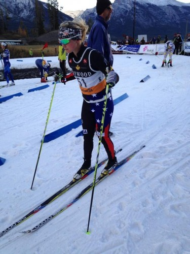 Me, getting ready to start the first qualifier of the season! (photo by Cross Country Canada)
