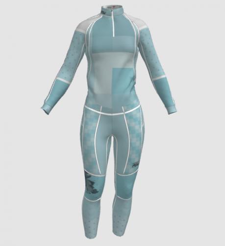 Women's color blocking suit