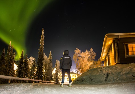 Checking out the Northern Lights. (photo credit: Reese Hanneman)