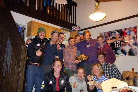 We had another team thanksgiving! But with chickens. It was tasty. (photo from Noah)