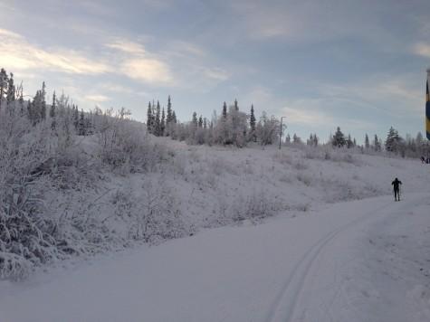 A frosty stretch of tracks
