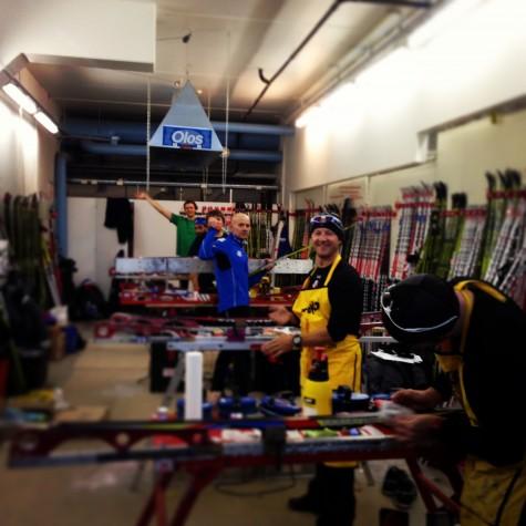 Our wax techs hard at work! Gus, JP, Peter, Oleg, Bryan, (Matt's missing in this photo) and Cork!