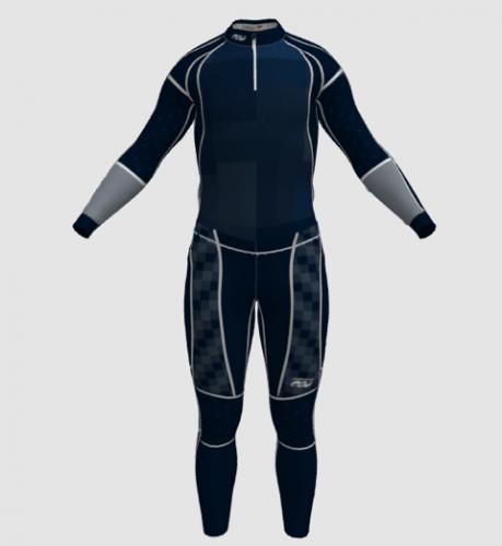 Men's color block suit