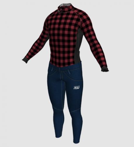 Men's jeans 'n flannel suit