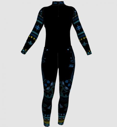"""Women's """"tribal"""" design suit"""