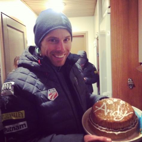 I had fun baking Andy's b-day cake! And we all had fun eating it!