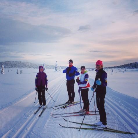 Sadie, Matt, Liz, and Sophie out for a ski on the Birkie trail in Sjusjøen (near Lillehammer)