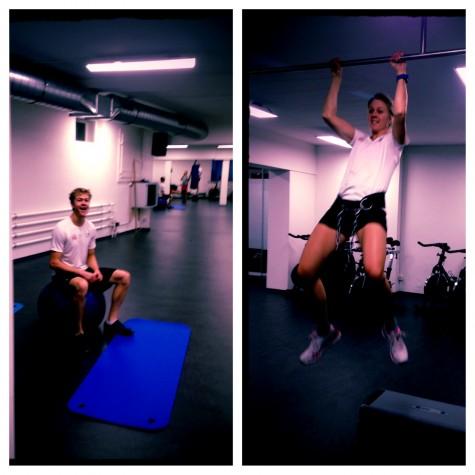 Siblings Erik and Sadie at the gym earlier this week
