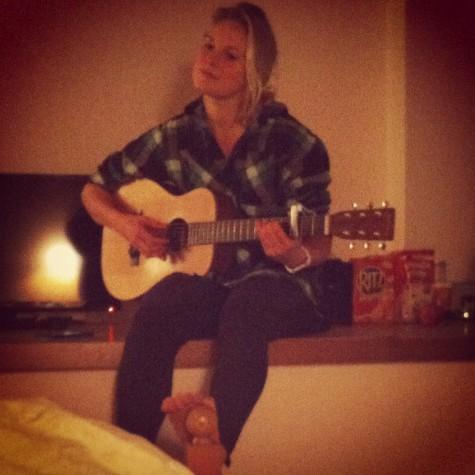 Practicing my mini-guitar music!